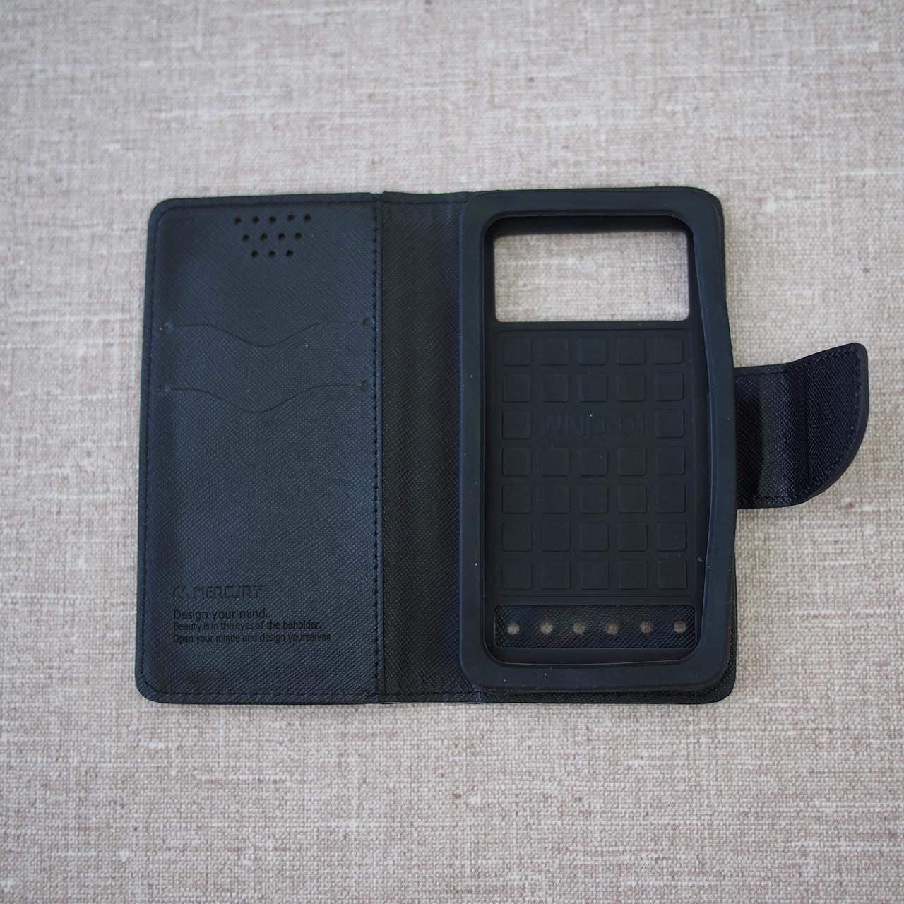 Чехол Goospery Fancy Diary Universal 4.3 black Для телефона