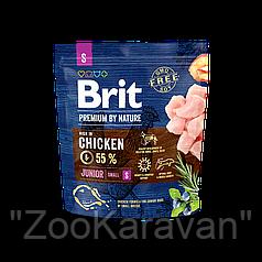 Сухой корм для щенков и молодых собак малых пород Brit Premium Junior S, 8 кг