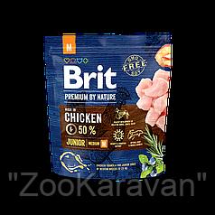 Сухой корм для щенков и молодых собак средних пород Brit Premium Junior M (Medium), 15 кг
