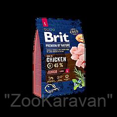 Сухой корм для щенков и молодых собак крупных пород Brit Premium Junior L (Large), 15 кг