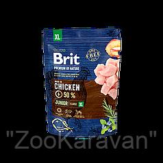 Сухой корм для щенков и молодых собак гигантских пород Brit Premium Junior XL, 15 кг