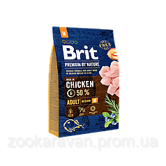 Сухой корм для собак средних пород Brit Premium M, 15 кг