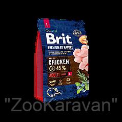 Сухой корм для собак крупных пород Brit Premium Adult L (Large), 15 кг