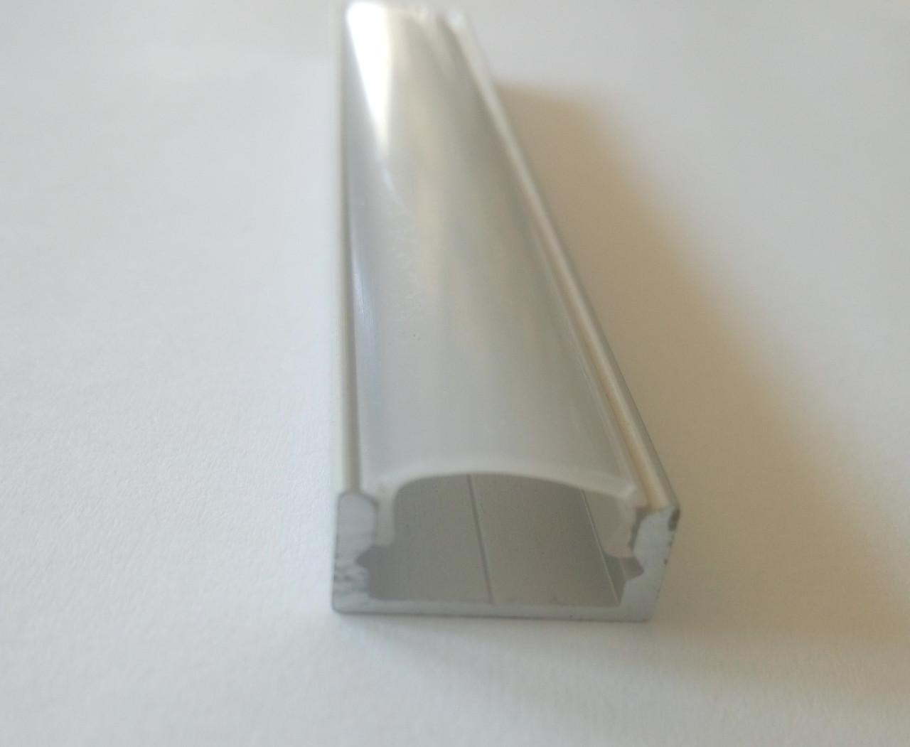 Накладний алюмінієвий профіль разом з матовим розсіювачем 2м для LED стрічки