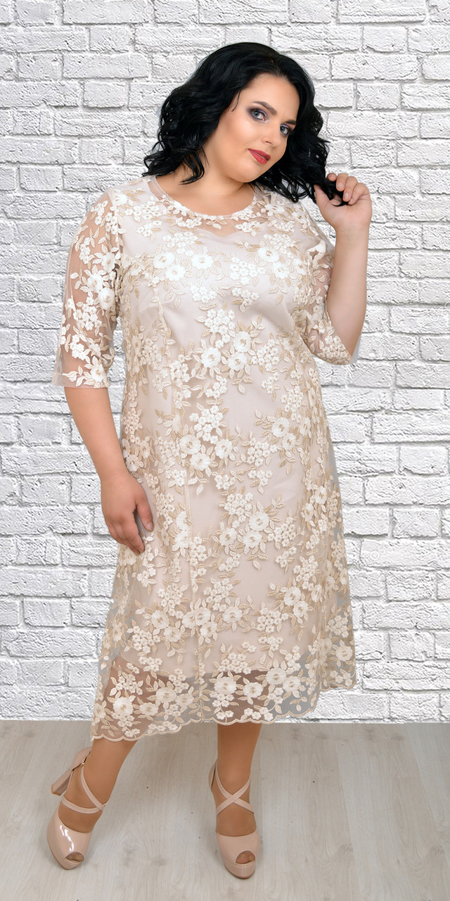 Платье красивое с цветочным принтом