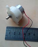 Міні електродвигун з харчуванням 12V і 12-14 обертів, фото 3