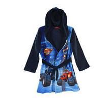 Теплый халат с капюшоном  на мальчика