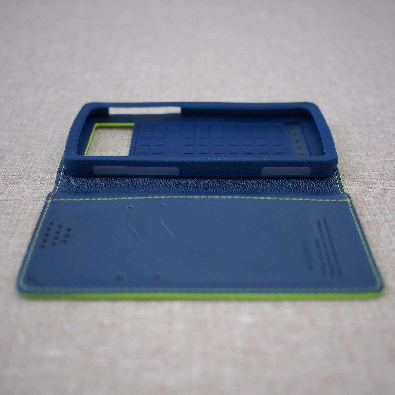 Чехол Goospery Fancy Diary Universal 5.2 green Для телефона