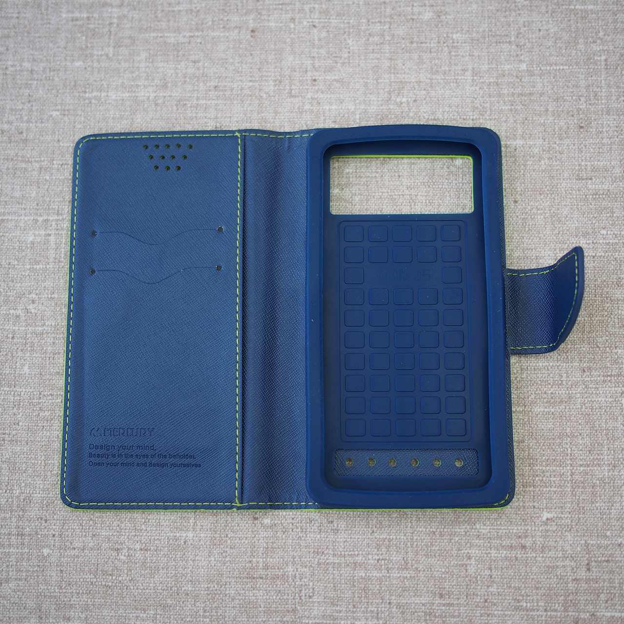 Goospery Fancy Diary Universal 5.2 green Для телефона