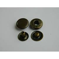Кнопка АЛЬФА  - 15 мм  антик