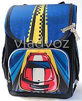 Школьный каркасный рюкзак для мальчиков Cars синий с черным