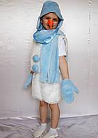 Новогодний детский костюм Снеговика для мальчика 3-6 лет