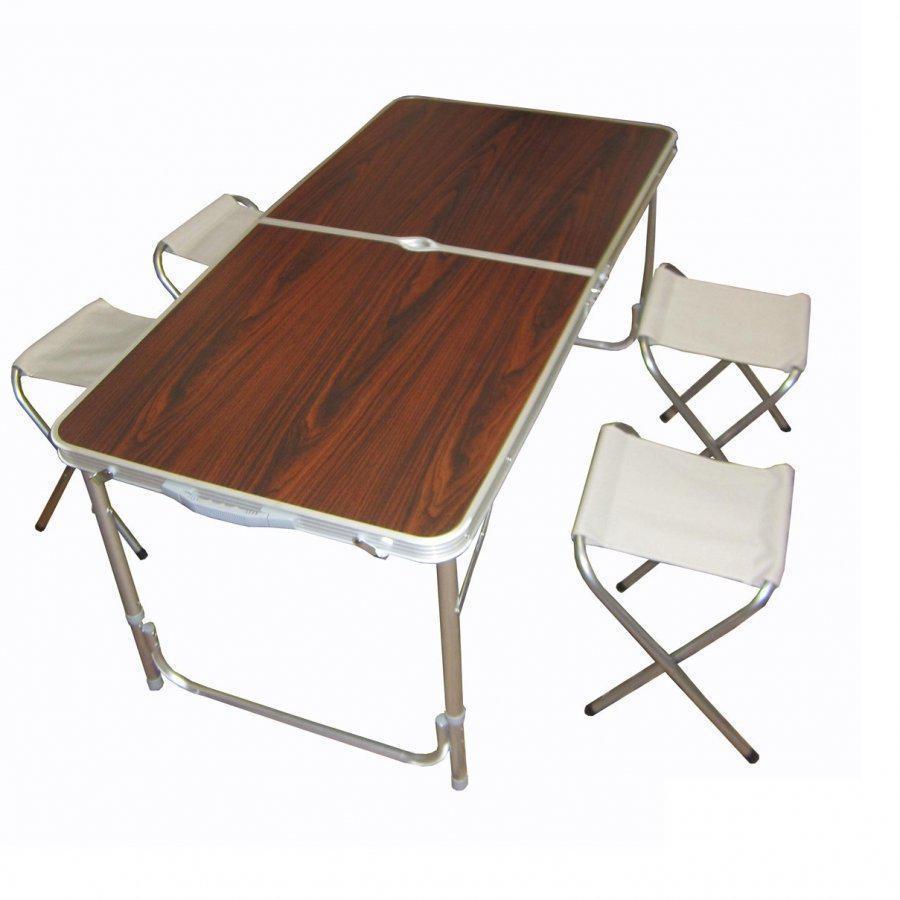 Складной туристический стол + 4 стульчика