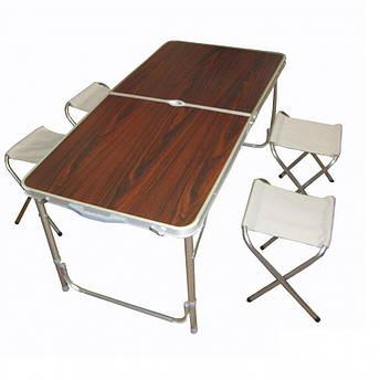 Складной туристический стол + 4 стульчика, фото 2