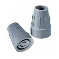 Резиновый наконечник для трости и костылей 25 мм с металлической вставкой