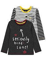 """Регланы детские с длинным рукавом George """"Вечеринка"""" для мальчика, набор 2 шт, размер 116 см"""