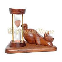 Часы песочные со скульптурой Кот лежащий