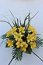 Искусственные цветы - Ритуальный букет лилия с папоротником, фото 3