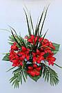 Искусственные цветы - Ритуальный букет лилия с папоротником, фото 5