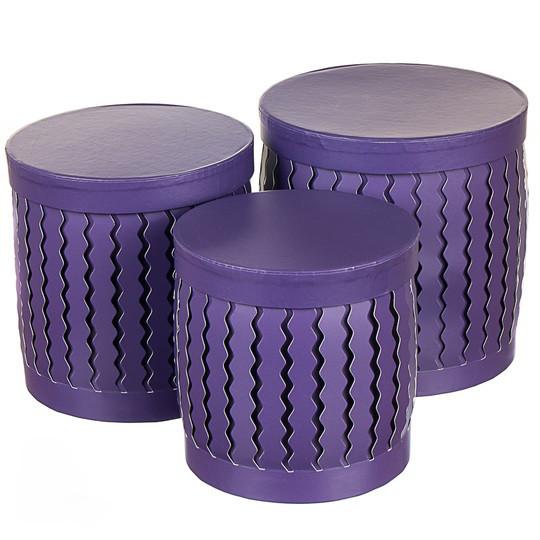 Набор подарочных коробок 3 шт ( Фиолетовый цвет )