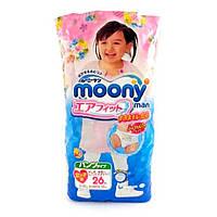 Трусики Moony Super Big 26 шт. 13-25 кг для внутреннего рынка Японии; Пол - Для девочки