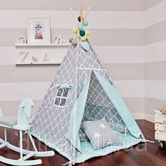 Вигвам Солнце. Детская игровая палатка, домик Без коврика