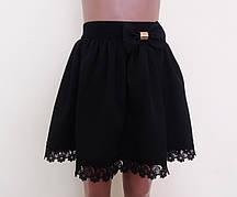 Детская школьная юбка на резинке «Ромашка», размер 128