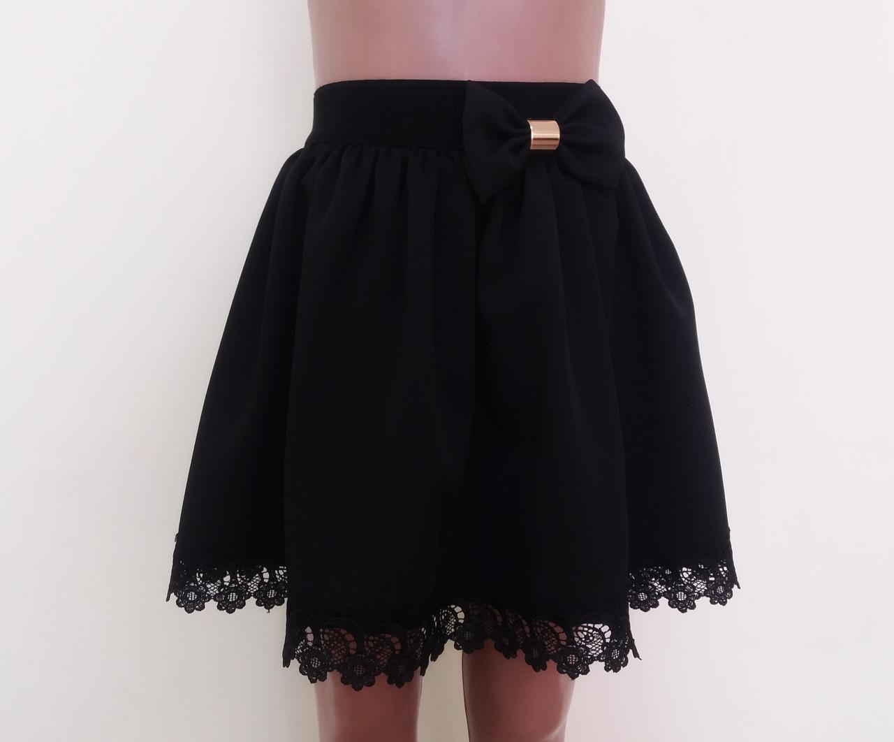 12d3b998e89 Детская школьная юбка на резинке «Ромашка»