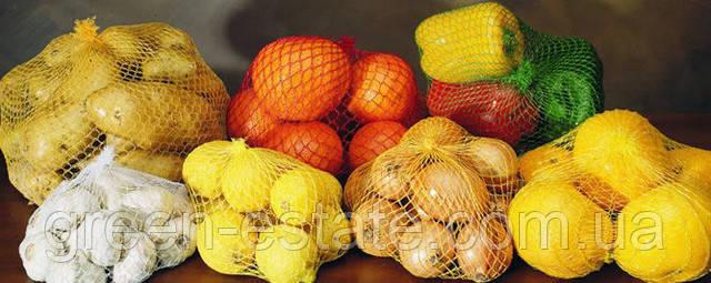 хранение овощей и фруктов в сетке