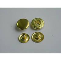 Кнопка АЛЬФА - 15 мм золото