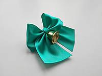 Бантики из атласных лент с колокольчиком для выпускников (26мм), фото 1