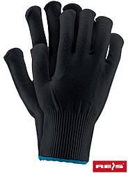 Защитные перчатки изготовленные из нейлона, снабженные резинкой RPOLY B