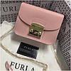 Cумка, клатч Фурла Метрополис натуральная кожа, цвет розовый, реплика