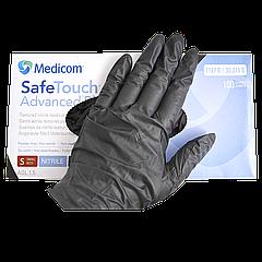 """Перчатки нитриловые текстурированные """"Safe-Touch"""" 1187-С р.М 100шт Черные"""