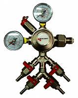 Редуктор СО2х4 MM (Европа) на 4 выхода; гайка 3/4G; 0-315 бар; 0-6/4 бар; с/ш dнар=7,5мм