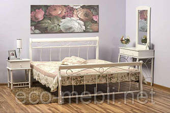 Двоспальне металеве ліжко Venecja 160 biały Signal