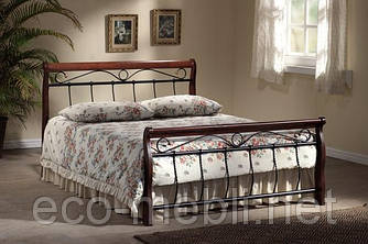 Двоспальне металеве ліжко Venecja 160 czereśnia antyczna Signal