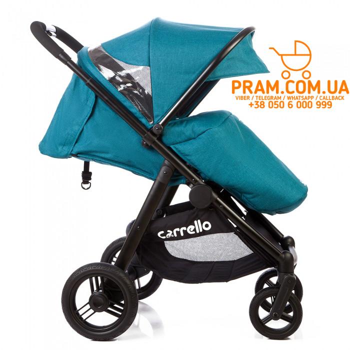 Прогулочная коляска Carrello Sonata CRL-1416 Лен Emerald Blue Бирюзовый, фото 1