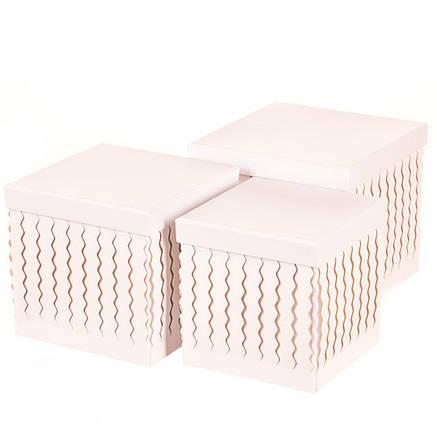 Набор подарочных коробок 3 шт, прямоугольник ( белый цвет ), фото 2
