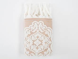 Полотенце Irya Jakarli - Calisto ekru молочный 50*90