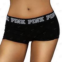 Шортики PINK черные лавровый венок в стиле