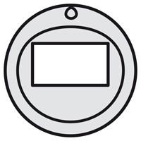 Лицевая панель - Программа Celiane - для Кат. № 0 672 25 и 0 670 25/26/99 - титан