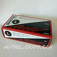 MANUTRIL Premium Перчатки нитриловые, черные, упаковка 100 шт. (L)