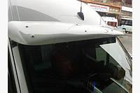Дефлектор лобового стекла (черный, с крепежками) Volkswagen Crafter с 2007 г.в.