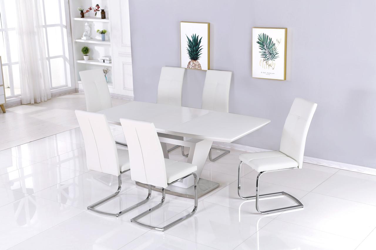 Стол обеденный модерн  Seattle  (Сиэтл) DT-9801   Евродом,цвет  белый