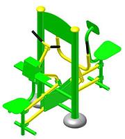 Тренажер для біцепса + важільна тяга