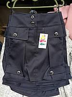 Юбка школьная стильная в складки с ажурным рисунком для девочки-подростка оптом