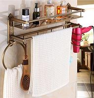 Полочка-вешалка для ванной комнаты 6-064