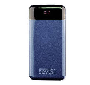 Power bank SEVEN P7 10000 mAh Lightning Type-C Dark Blue