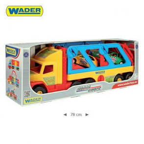 Wader Super Truck Перевозчик с авто-купе 36640 , фото 2
